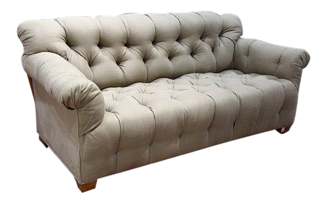 Michael Taylor Tufted Sofa For Sale
