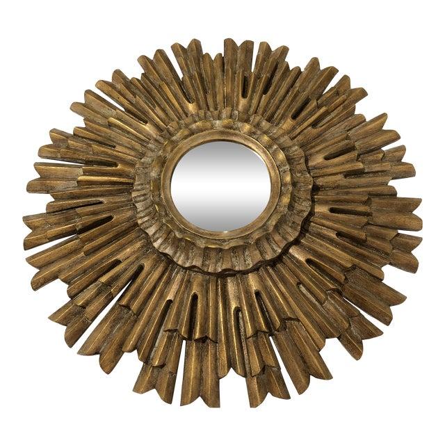 Gilded Sunburst Wall Mirror For Sale