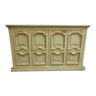 Vintage Italian Regency Pine Paint Distressed Server Sideboard Cupboard