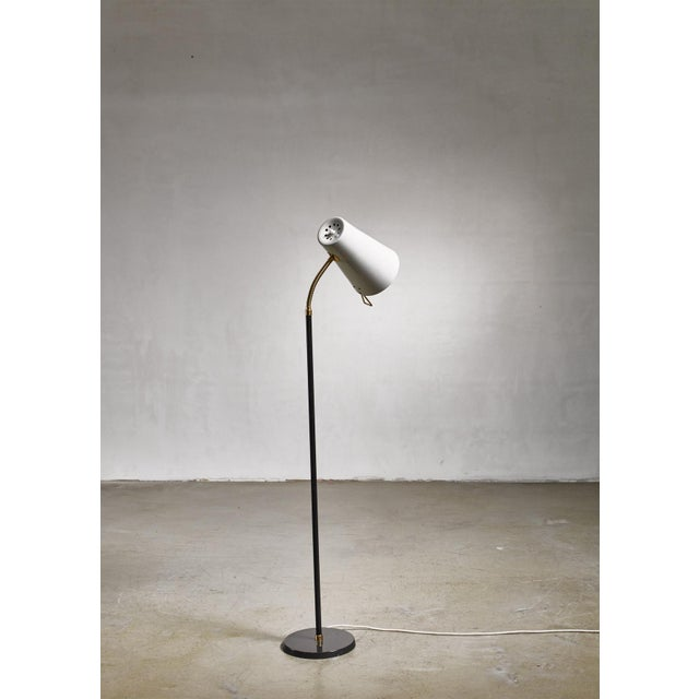 Black Yki Nummi Floor Lamp for Orno, Finland For Sale - Image 8 of 8