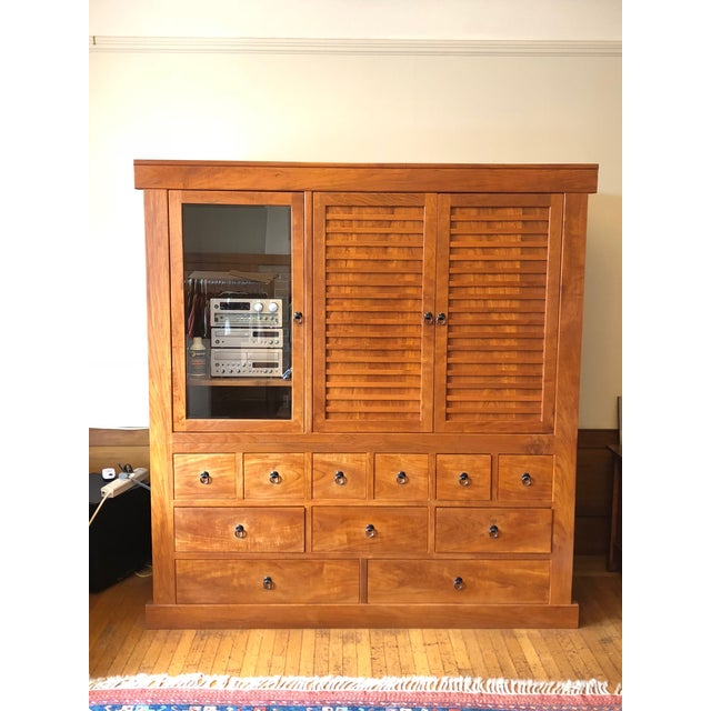 Solid Cherry Wood Japanese Tansu For Sale In San Francisco - Image 6 of 6