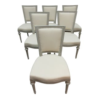 Swedish Gustavian Side Chairs - Set of 6 For Sale