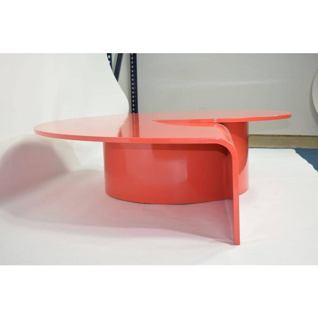 Early 20th Century Fabulous Statement Coffee Table in Red/Orange Lacquer For Sale - Image 5 of 9