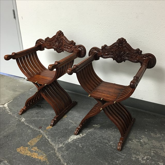 Side Wood Folding Chairs - Pair - Image 5 of 11