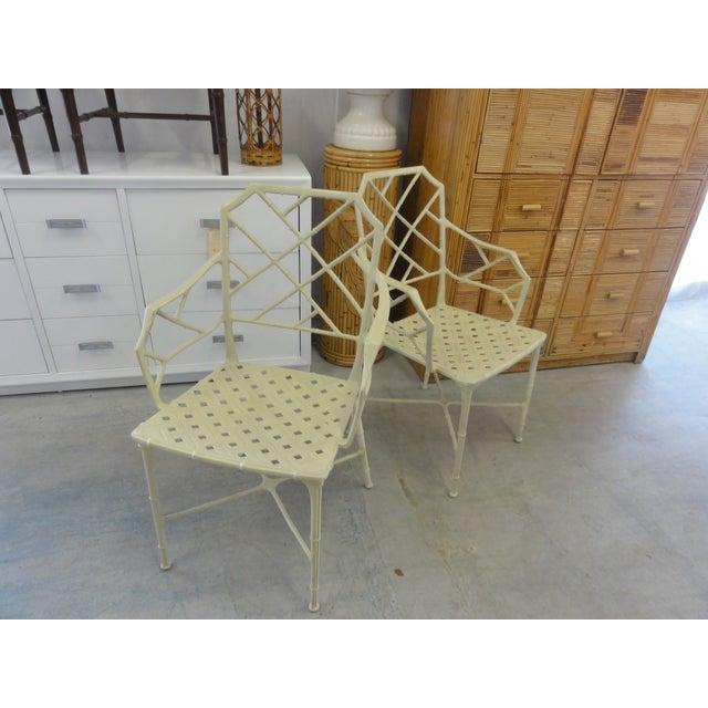 Brown Jordan Brown Jordan Calcutta Faux Bamboo Chairs - a Pair For Sale - Image 4 of 8