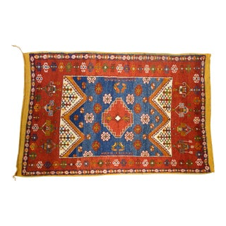 """1960s Moroccan Boujad Rug 5' X 7'6"""" For Sale"""