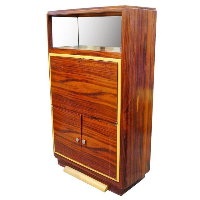 High Style Art Deco Macassar Ebony Vitrine Cabinet & Secretary Desk - Image 3 of 7