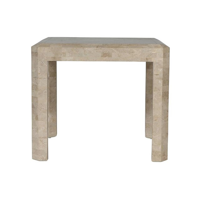 Maitland Smith Tessellated Side Table - Image 2 of 6