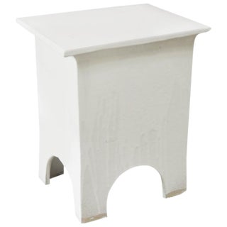 Artisan Series Stool/Side Table in White For Sale