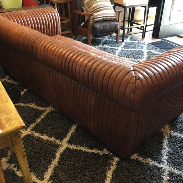 Animal Skin New Artsome Logan Sofa in Cognac Color Leather For Sale - Image 7 of 11