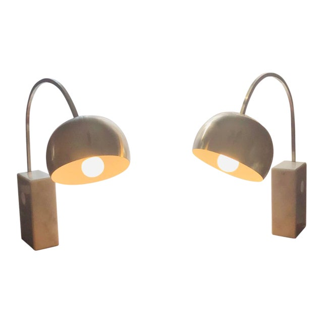 Italian Mid Century Modern Arco Desk Lamps - a Pair For Sale