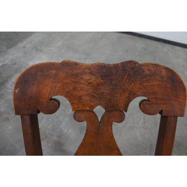 Mid 19th Century Antique Crotch Walnut Federal Empire Cane Seat Dining Side Chairs- Set of 4 For Sale - Image 9 of 12