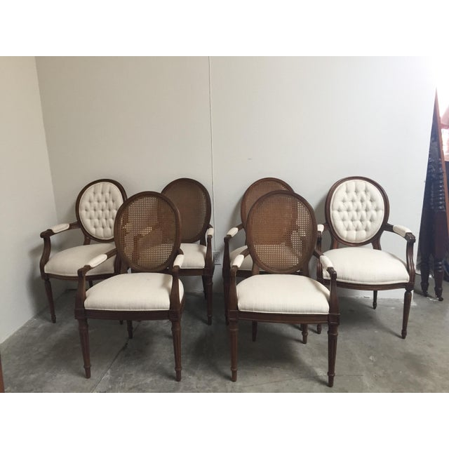 Louis XVI Style Dining Chairs- Set of 6 - Image 2 of 11