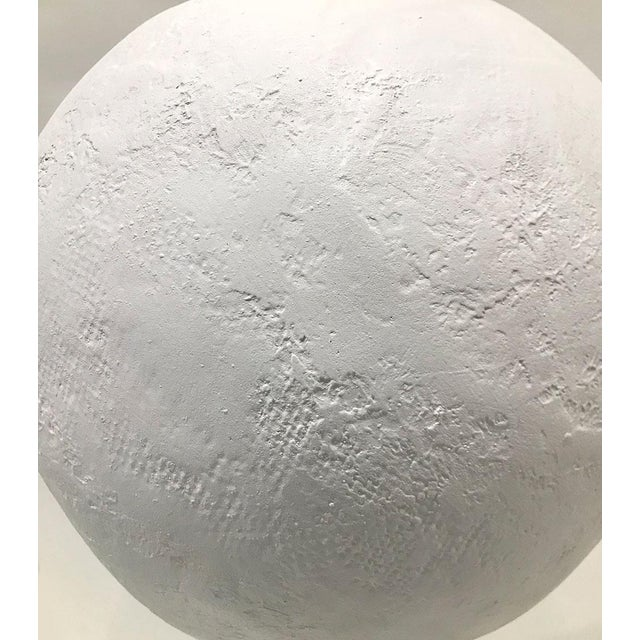 1970s Plaster Sphere Lamps — a Pair For Sale - Image 10 of 11