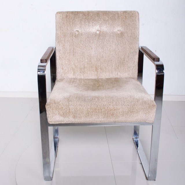 Thayer Coggin Mid Century Modern Milo Baughman for Thayer Coggin Chrome Dining Chairs-Set of 4 For Sale - Image 4 of 11