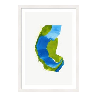 Framed in White 'Color Study 2' Watercolor Print on Textured Paper by Encarnacion Portal Rubio For Sale