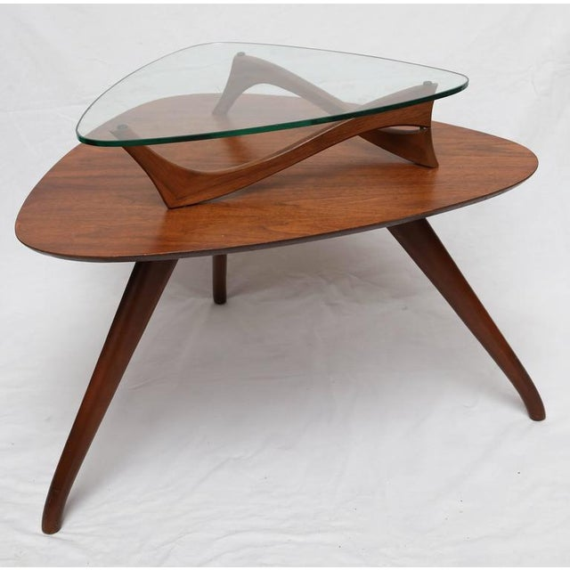 Mid-Century Modern 1960s American Vladimir Kagan Style Side Table For Sale - Image 3 of 8