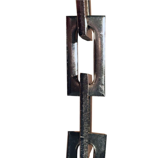 Glass Industrial Clamp Light Pendant For Sale - Image 7 of 8