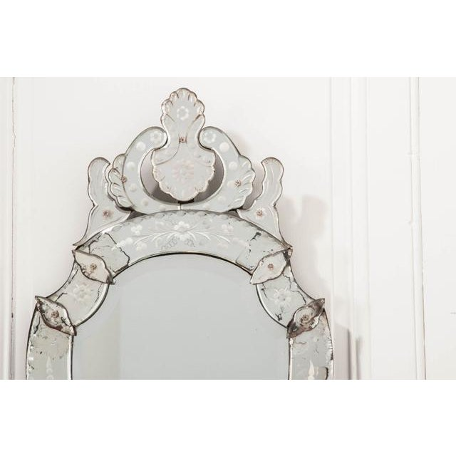 Late 19th Century Venetian Shield Form Wall Mirror For Sale In Baton Rouge - Image 6 of 10