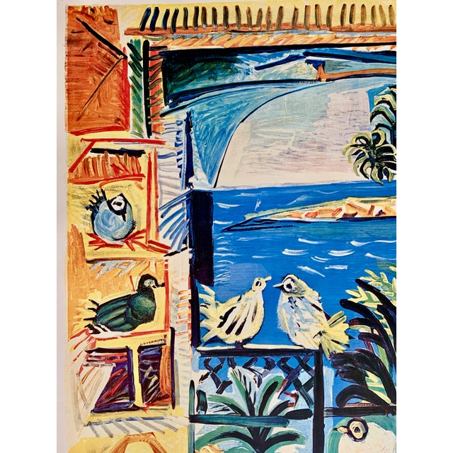 "Paper 1994 Pablo Picasso ""Cannes A.M."" Lithographic Poster For Sale - Image 7 of 13"