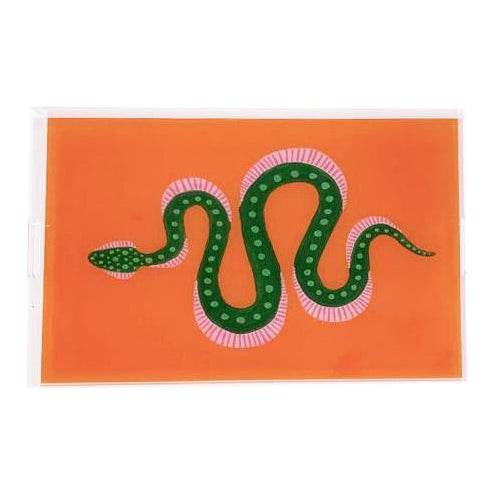 Marmalade the Snake by Willa Heart Tray For Sale