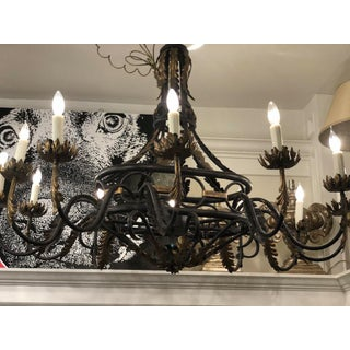 Spanish Colonial Wrought Iron Designer Chandelier by Traditional Imports Preview