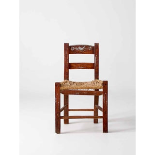 Antique Rush Seat Folk Chair Preview