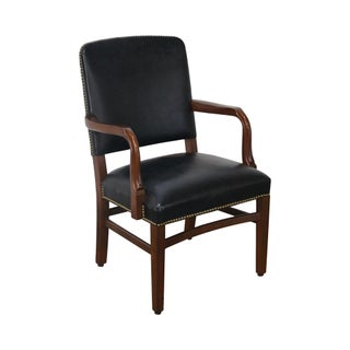 Gunlocke Traditional Black Office Arm Chair For Sale