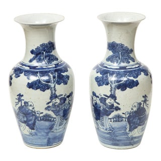 Chinese Export Vases - A Pair For Sale