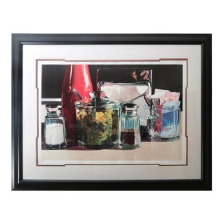 Framed Lithograph Still Life of an American Diner Table Scape by Ralph Goings Ltd Ed For Sale