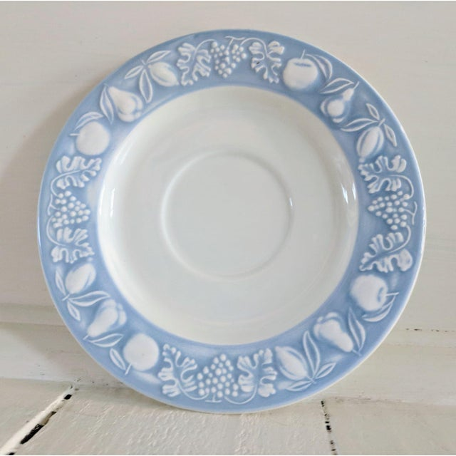 Franco Giorgi by Quadrifoglio Embossed Fruit Pattern Saucer For Sale In Tampa - Image 6 of 6