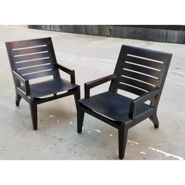Lounge Chairs by Christian Liaigre for Holly Hunt - a Pair For Sale - Image 13 of 13