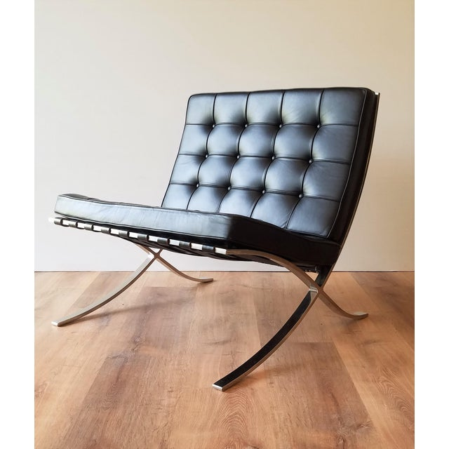 1970s 1970's Vintage Barcelona Chair by Knoll - a Pair For Sale - Image 5 of 13
