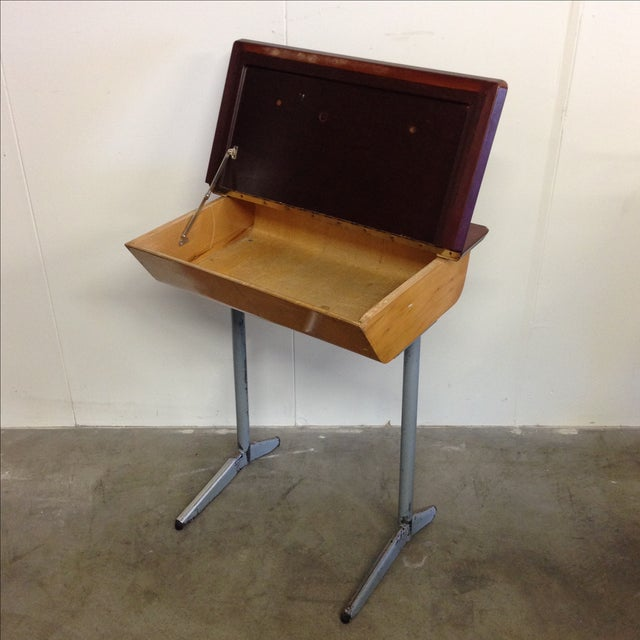Vintage 1960s Children's School Desk For Sale In Los Angeles - Image 6 of 7