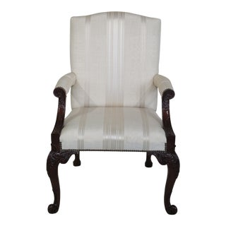 Baker Stately Homes Collection Carved Mahogany Armchair