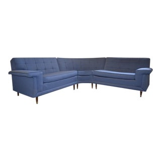 1950's Blue Sectional Sofa