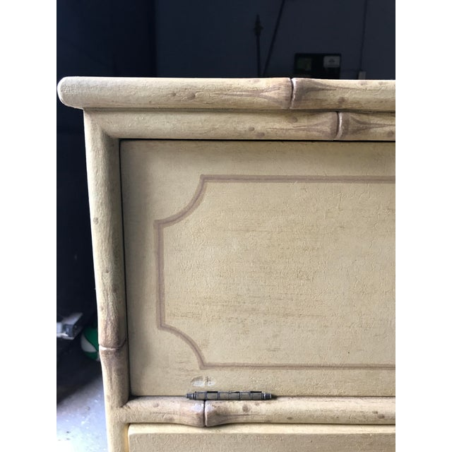 A/V Equipment Faux Bamboo Chest - Image 5 of 10