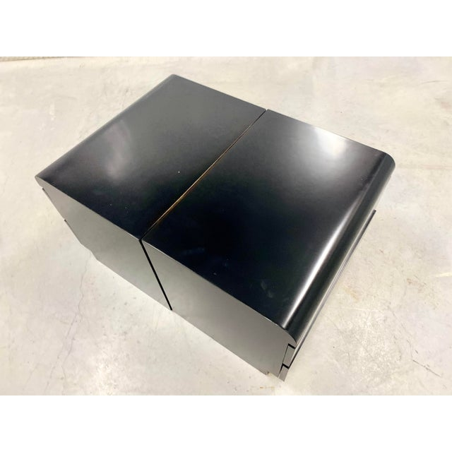 Restored Black Lacquered & Brass Side Tables - a Pair For Sale In Tampa - Image 6 of 8