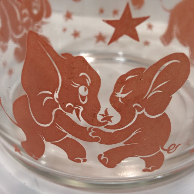 Vintage Hazel-Atlas Glass Pink Elephant Ice Bucket & Tongs - Image 9 of 11