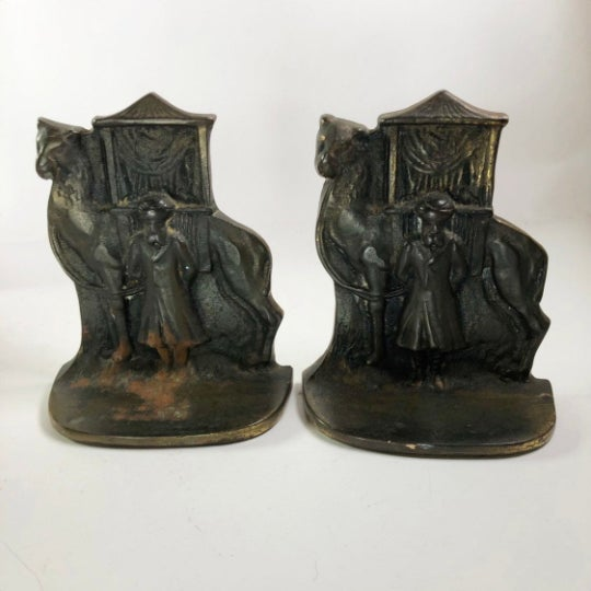 1960s North African Mid-Century Brass Bookends - a Pair For Sale - Image 5 of 5