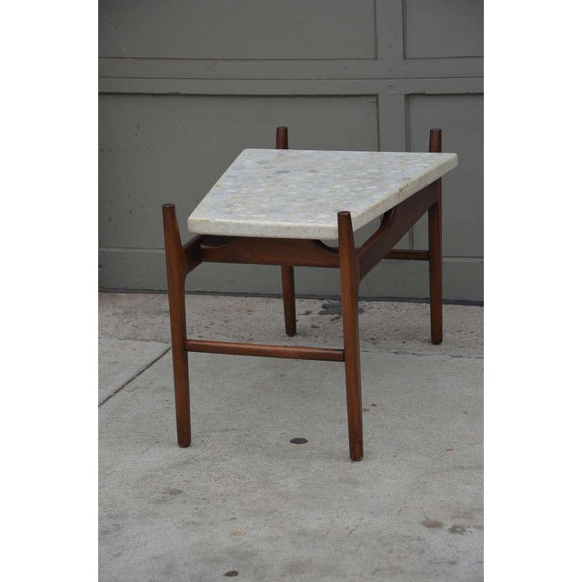Harvey Probber Rare Trapeze Terrazzo Side Table by Harvey Probber For Sale - Image 4 of 7