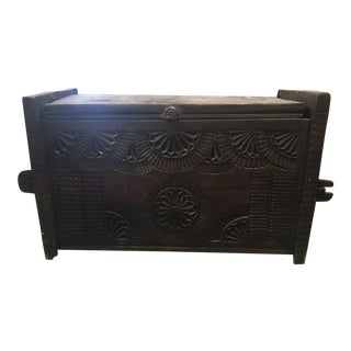 Early 1800s Wood Trunk For Sale