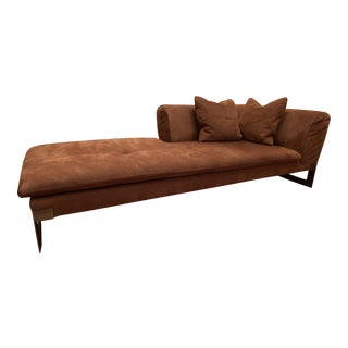 Baxter Suede-Like Leather Luxury Couch Set For Sale