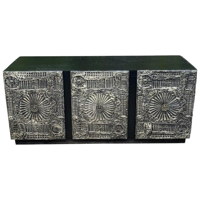 """Adrian Pearsall for Craft Associates """"Sculpted Bronze"""" Brutalist Credenza For Sale"""