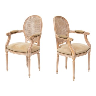 Pair of Louis XVI Armchairs For Sale
