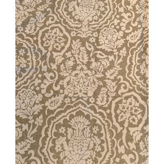 Pottery Barn Medici Linen & Cotton Fabric For Sale