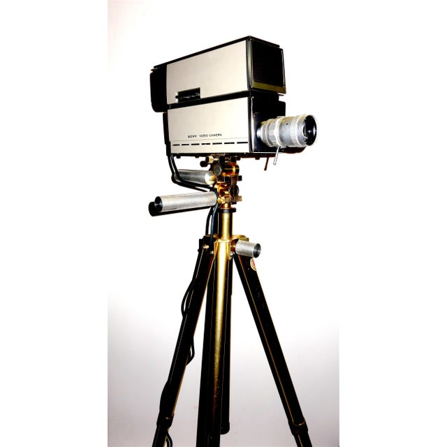 Sony Vintage Vidicon Industrial Video Camera Circa 1969-70 Complete With Tripod. ON SALE For Sale - Image 11 of 11