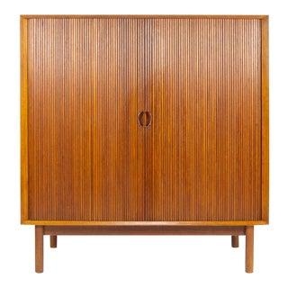 1950s Danish Modern Peter Hvidt & Orla Mølgaard-Nielsen for John Stuart Sliding Door Storage Cabinet For Sale