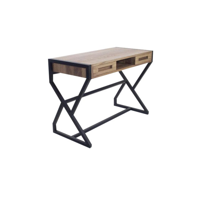 Levita Desk in Solid Matilisguate Wood For Sale