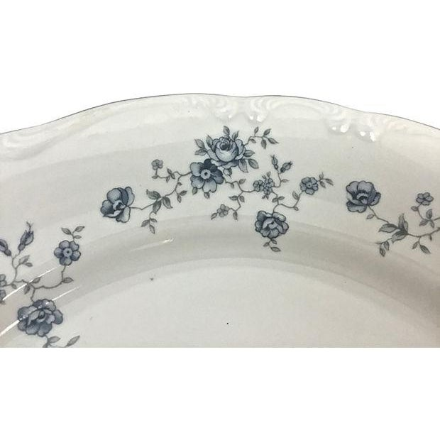 Haviland Blue Garland Plates - Set of 9 For Sale In Raleigh - Image 6 of 9